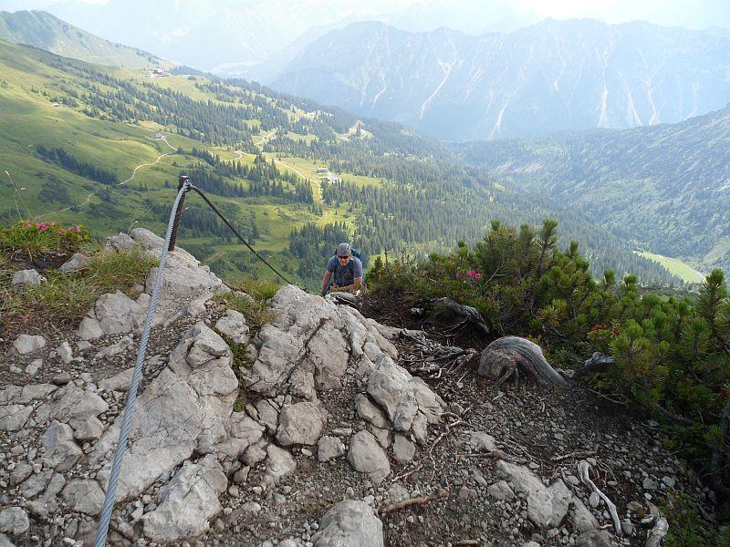 Klettersteig Kanzelwand : Klettersteig an der kanzelwand aber irgendwie meine ich hikr
