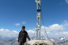 Am Gipfelkreuz des Similaun